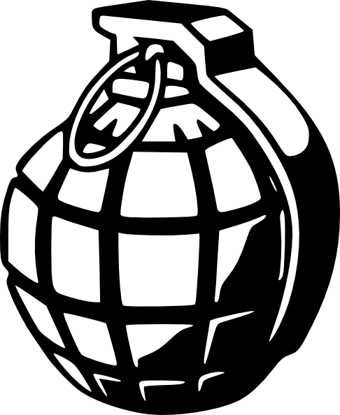 freeuse download Bomb clip art at. Stone wall clipart black and white.