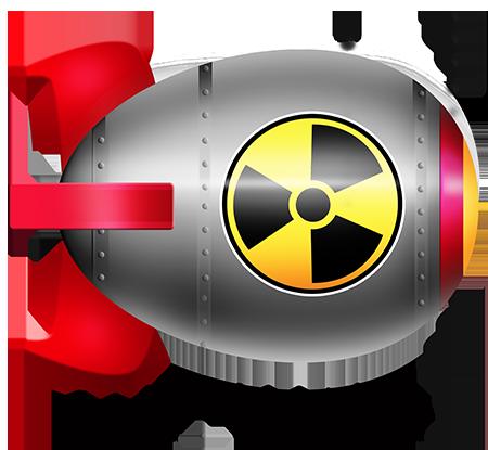 vector library library Nuclear cartoon. Bomb clipart hydrogen bomb.