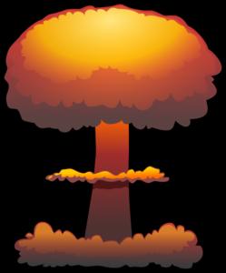 clip art freeuse Bomb clipart little boy bomb. Nuclear explosion clip art.
