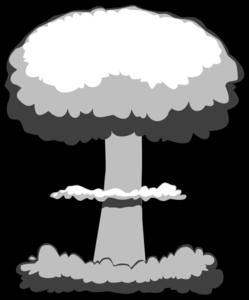 clip art freeuse Bomb clipart little boy bomb. Nuclear explosion clip art