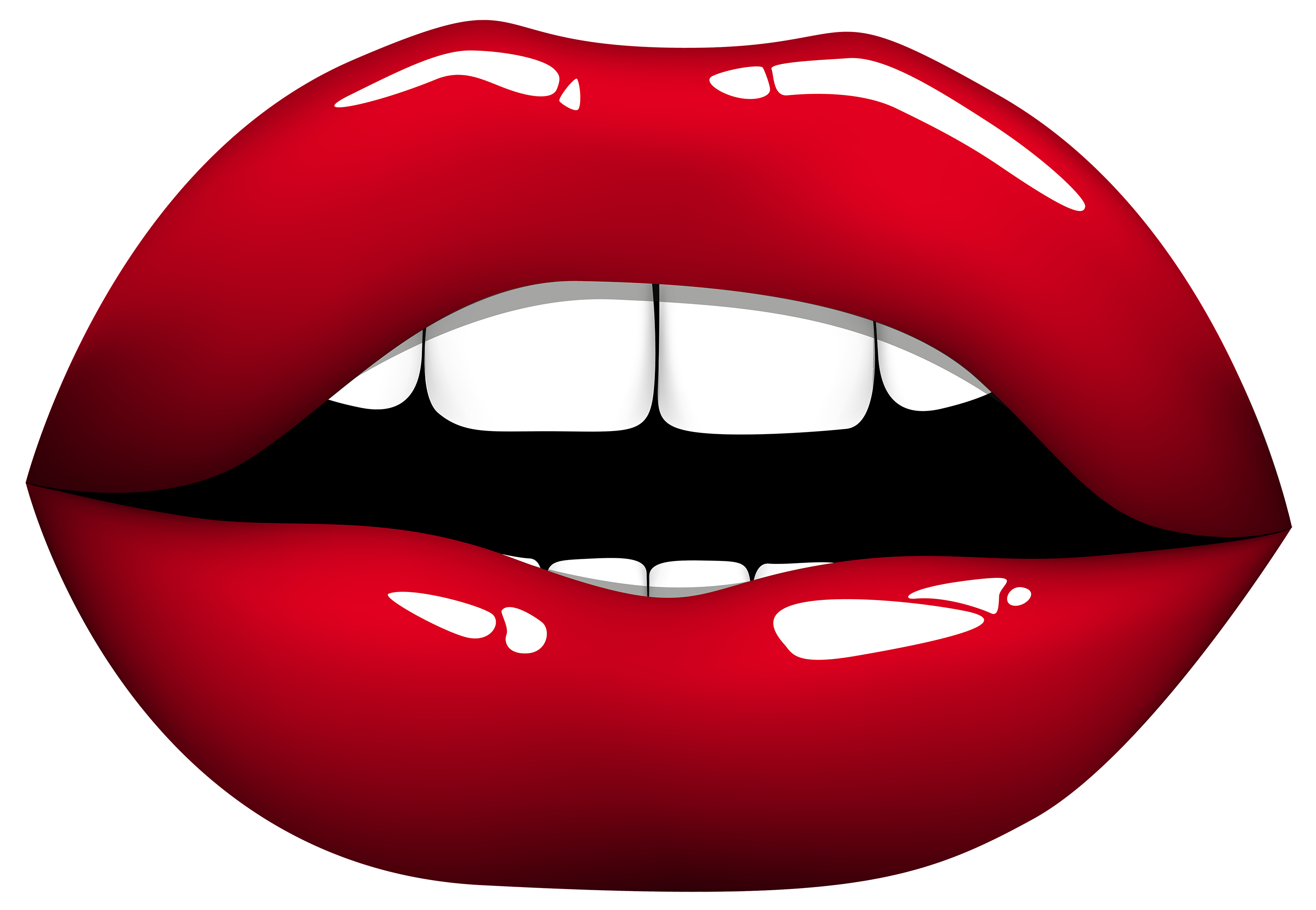 freeuse Red lips png clipart. Laughing vector happy lip