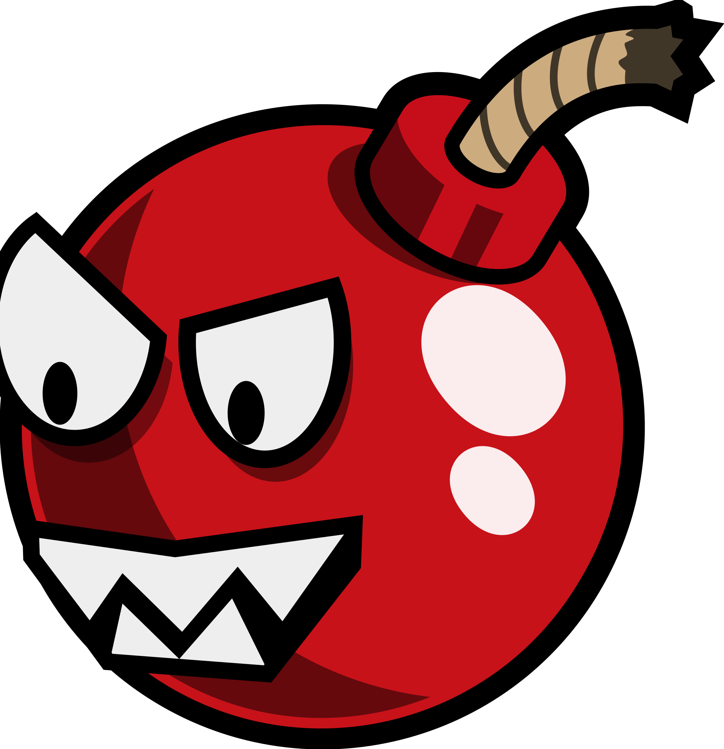 vector Bomb clipart mouth. Cartoon cherry enemy remix
