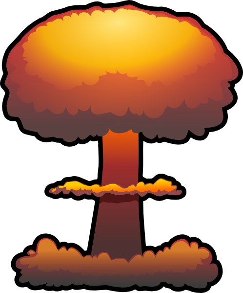 graphic royalty free download Nuclear explosion transparent png. Boom clipart blast