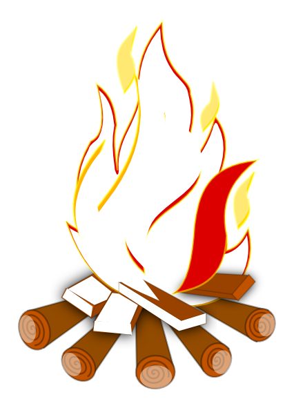 image freeuse library Funny clipart . Bonfire vector.