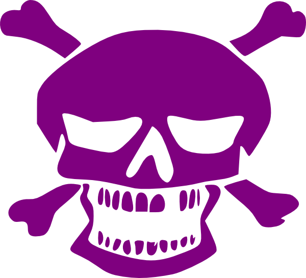 png black and white Bone clipart purple. Skull clip art at