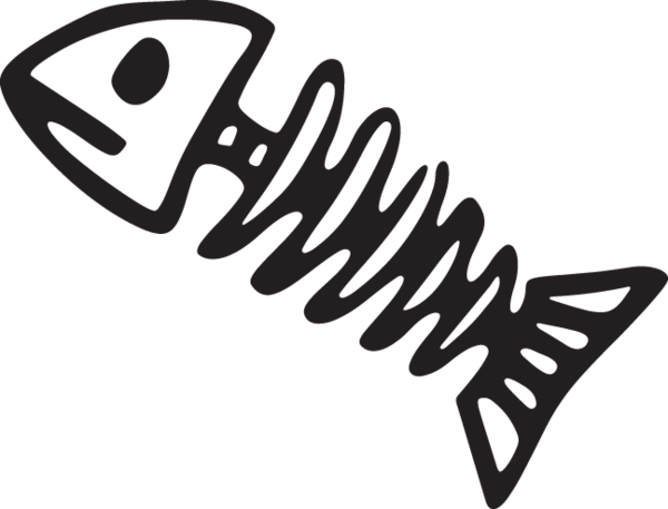 vector free  ca fish clip. Bones vector cartoon