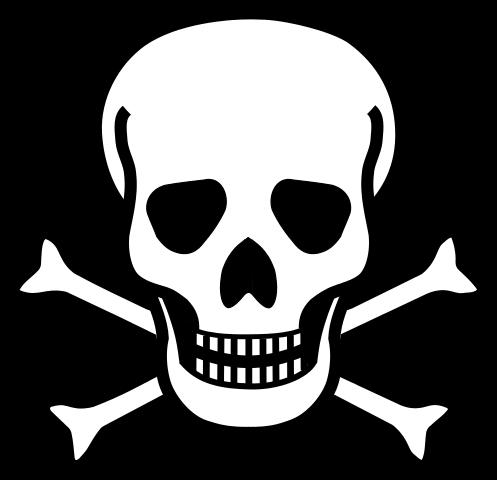 picture freeuse File skull crossbones svg. Bone transparent cross bones