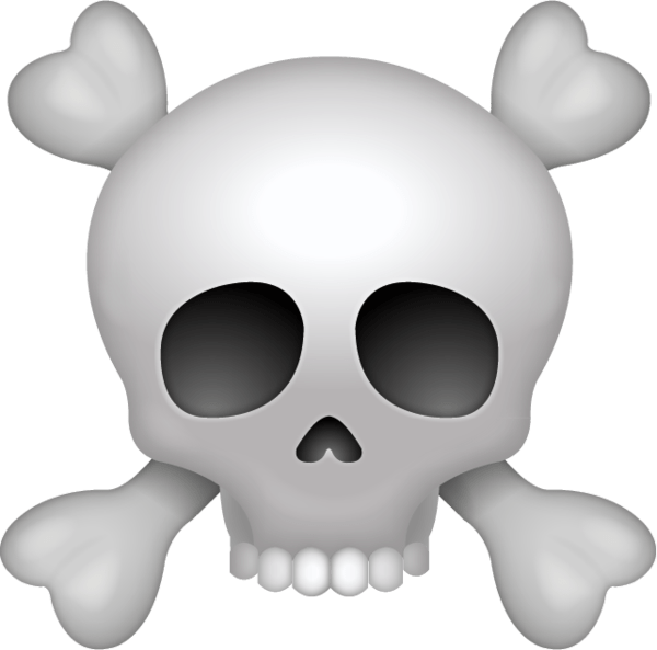 clipart library library Bone transparent emoji. Pirate skull png stickpng