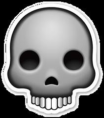 clip art freeuse download Skull sticker png stickpng. Bone transparent emoji