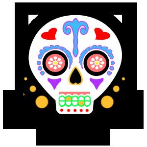 vector library download Bone transparent kawaii. Dia de los muertos