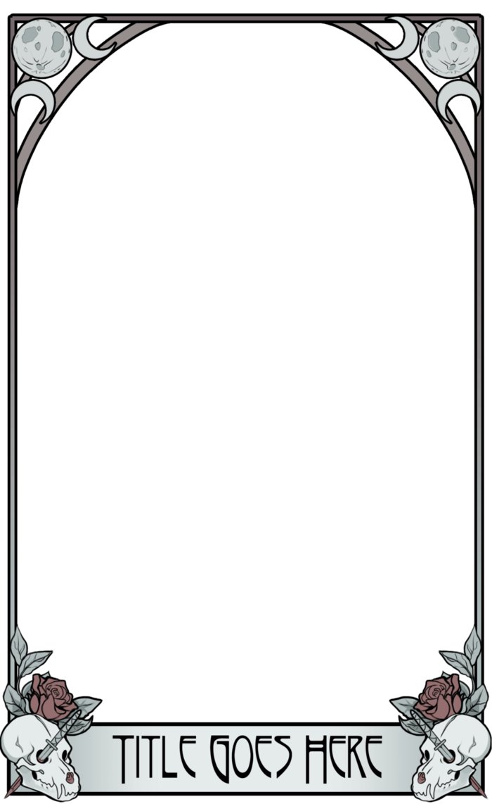 graphic black and white download Bone transparent template. Tarot silver and by
