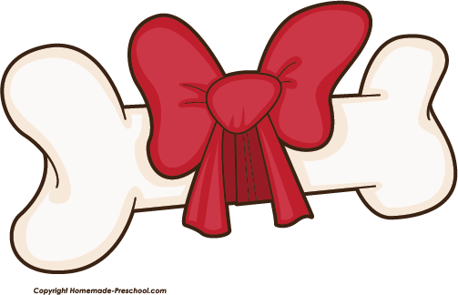 royalty free stock Dog bone with . Bones clipart bow clipart