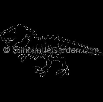jpg freeuse stock Dinosaur skeleton silhouette clip art