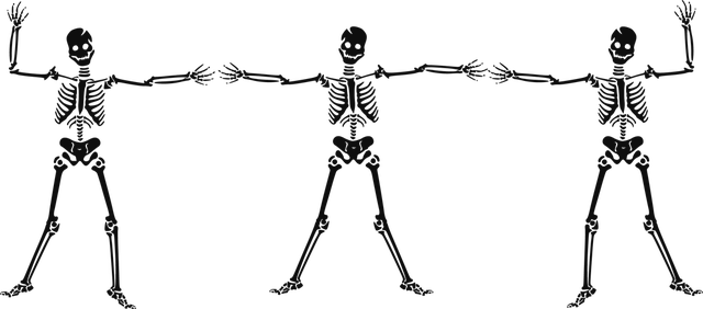 image free Bones clipart traceable. Skeleton halloween free on