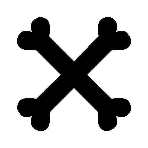 banner transparent download Icons download free. Bones transparent cross