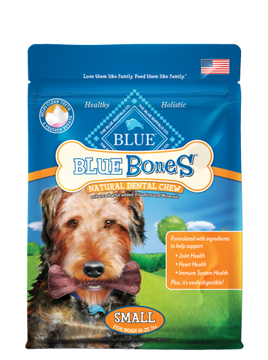 stock Blue natural dental chews. Bones transparent small animal