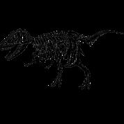 jpg freeuse download Bones transparent t rex. Tyrannosaurus skeleton gift by