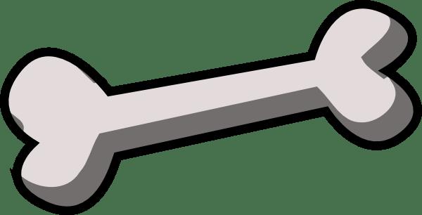 png black and white Dog bone clip . Bones vector art