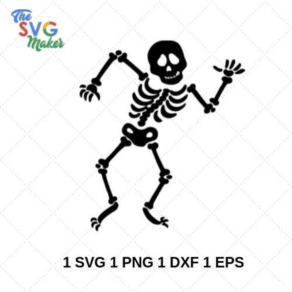 jpg royalty free download Dancing skeletons svg halloween. Bones vector art
