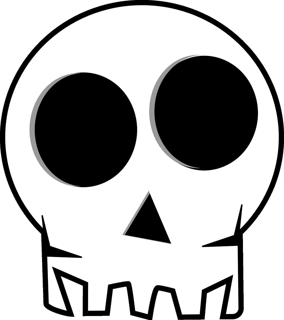 clip freeuse Bones vector cartoon. Skull death s head