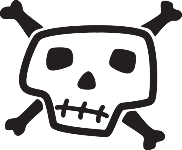 banner black and white download Bones vector cartoon.  ca skull and