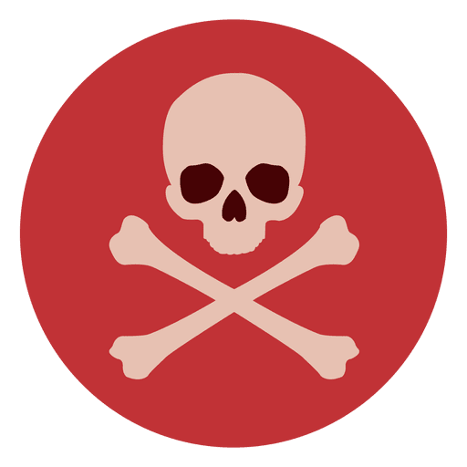 picture freeuse stock Skull circle icon transparent. Bones vector colorful