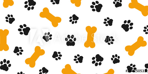 png royalty free library Bones vector dog paw. Black trace of pattern