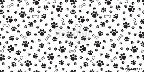 picture free Bones vector dog paw. Bone seamless pattern doodle