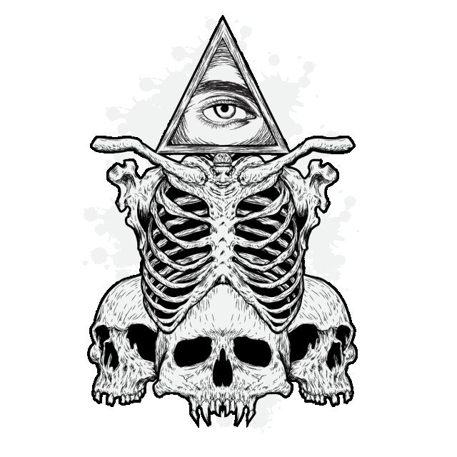 svg freeuse stock Skull and eye png. Bones vector illustration