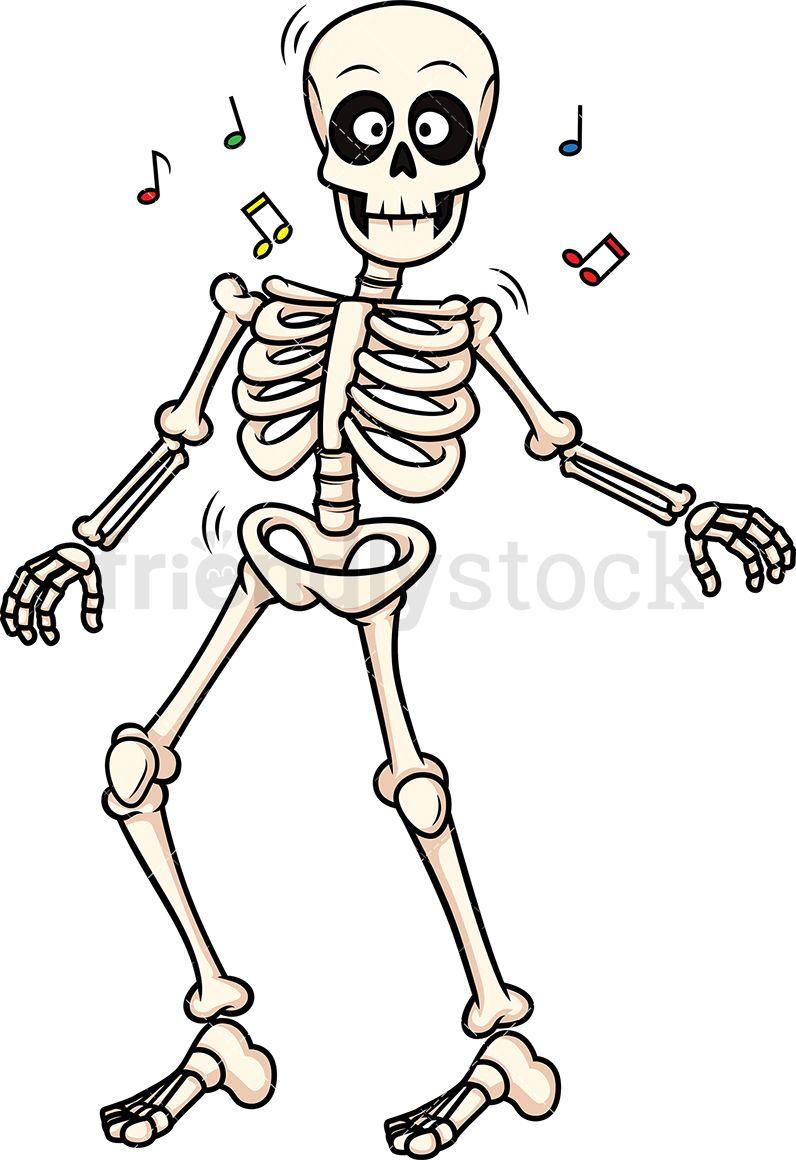 image transparent library Bones vector illustration. Skeleton dancing art skeletal