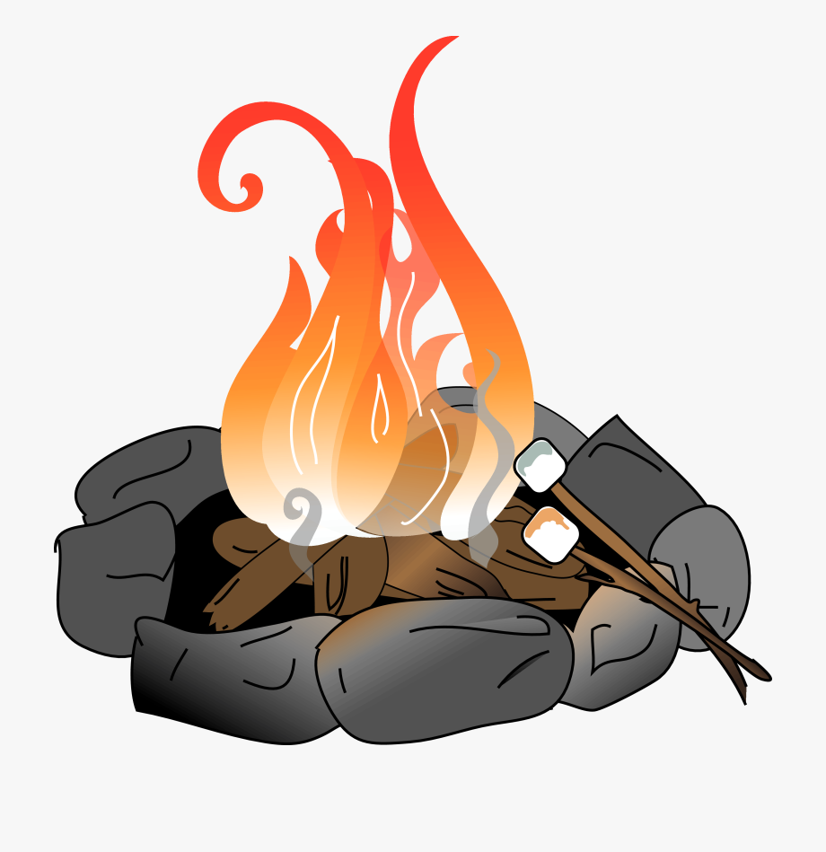image transparent library Bonfire clipart. Fire pit pencil and.