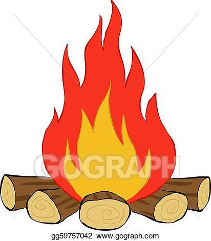 png free download Bonfire clipart. Eps vector stock illustration.