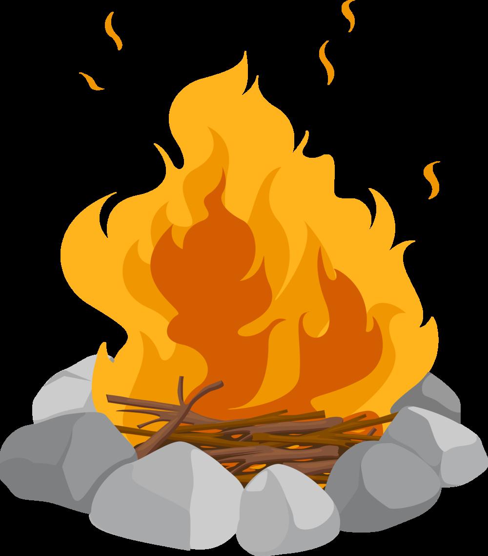 clip art library SAF Potluck and Bonfire