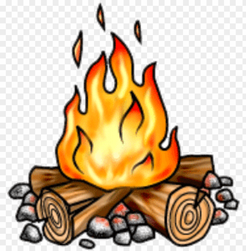 picture transparent download Bonfire clipart campground. Free stock small campfire