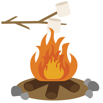 svg free stock Bonfire clipart campground. Roasting marshmallows svg scrapbook