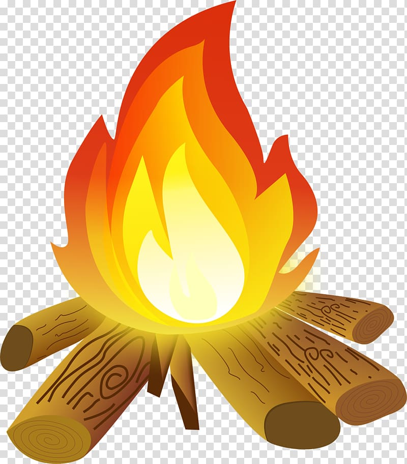 jpg library Burning firewoods art campfire. Bonfire clipart campground