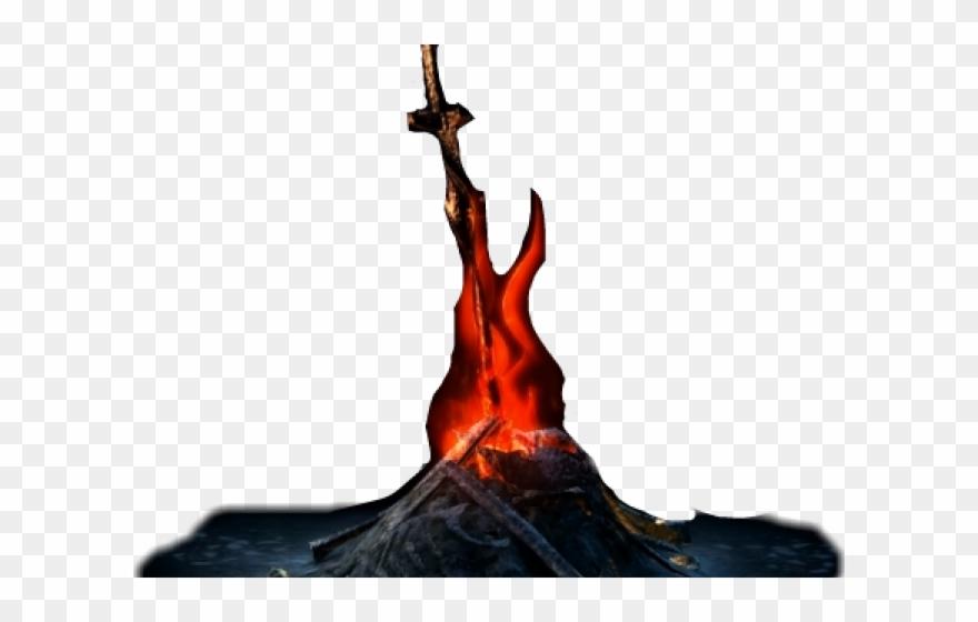 vector library stock Png pinclipart . Bonfire clipart dark souls.