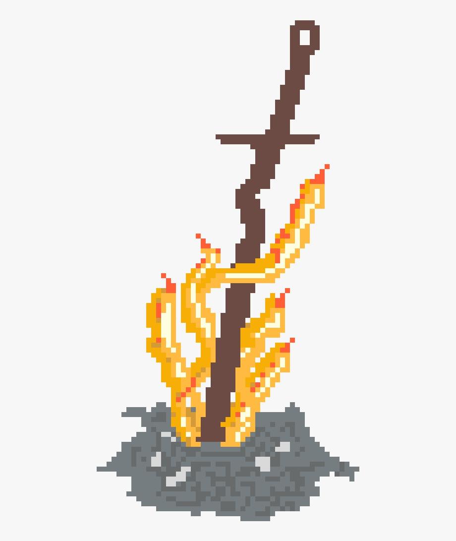 clip library stock Bonfire clipart dark souls. Pixel art maker .