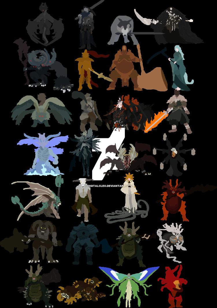 picture Bonfire clipart dark souls. Each major boss of.
