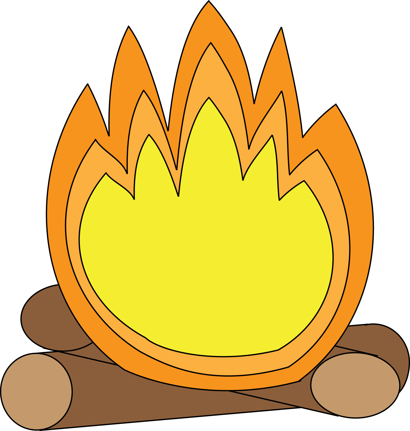 graphic black and white stock Bonfire clipart fire pit. Black and white campfire
