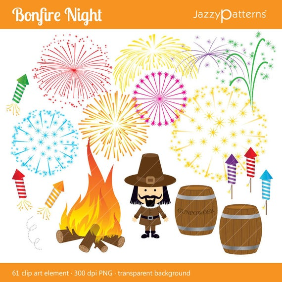 royalty free Night guy fawkes day. Bonfire clipart firework