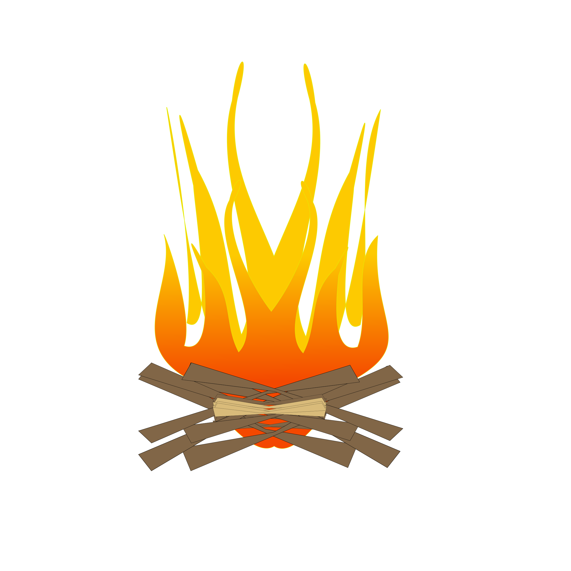 svg royalty free library Camp fire log free. Bonfire clipart fogata.