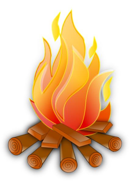 jpg stock Camp fire free on. Bonfire clipart fogata
