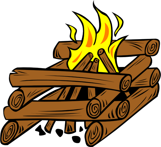 clip freeuse Campfire Clipart