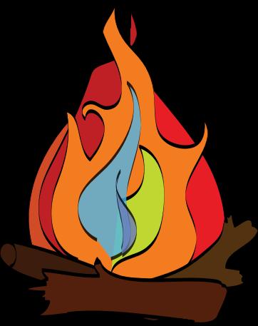 banner black and white Bonfire clipart campfire