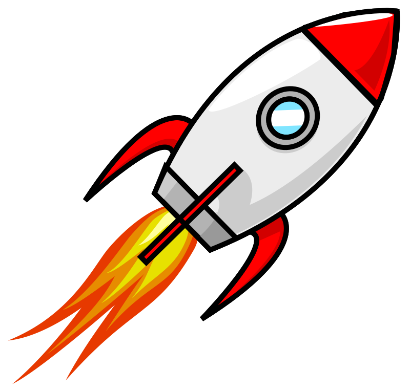 graphic royalty free library Rocket cartoon drawing at. Vector spaceship animated