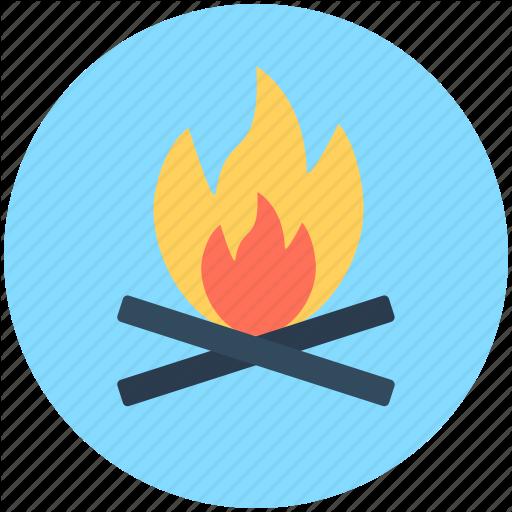 clip art transparent download Bonfire vector. Travel by vectors market.