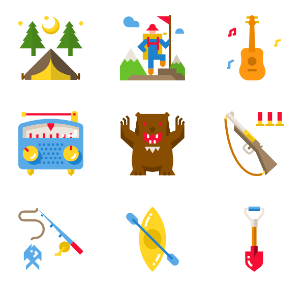 clipart transparent library Icons free camping. Bonfire vector.