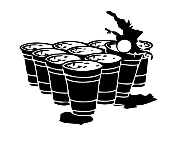 image royalty free Beer pong keg stand. Bong vector