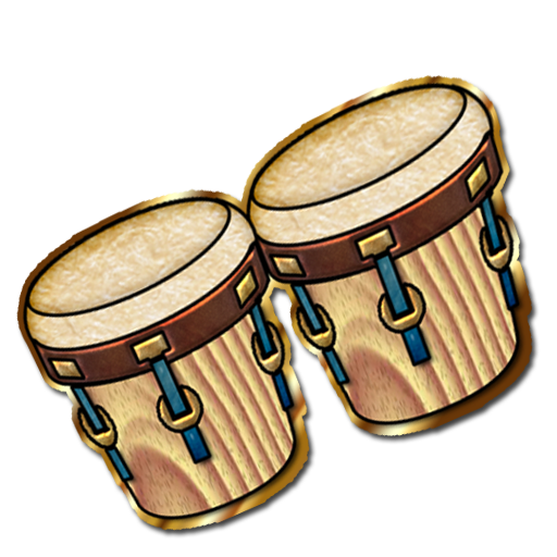 clipart black and white stock Bongo Drum Clipart